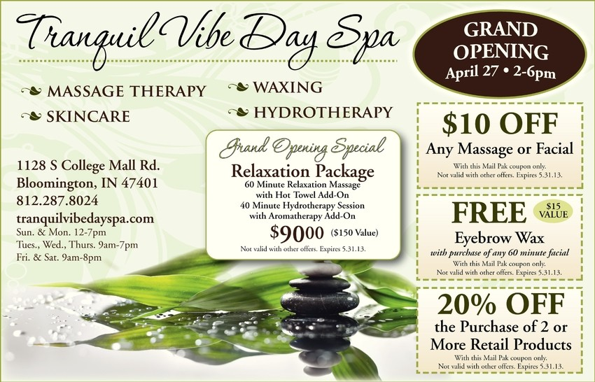 Grand Opening Spa Specials